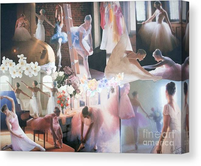 Pictures Of Ballarinas At Work Or In Performance; Ballet; Stage Canvas Print featuring the mixed media Ballarina Beauty - Sold by Judith Espinoza