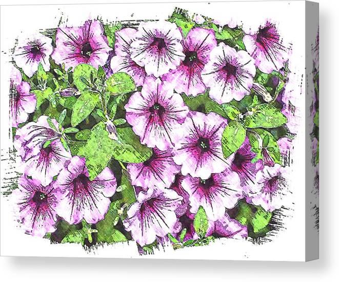 Flower Canvas Print featuring the photograph Bunch by Joyce Baldassarre