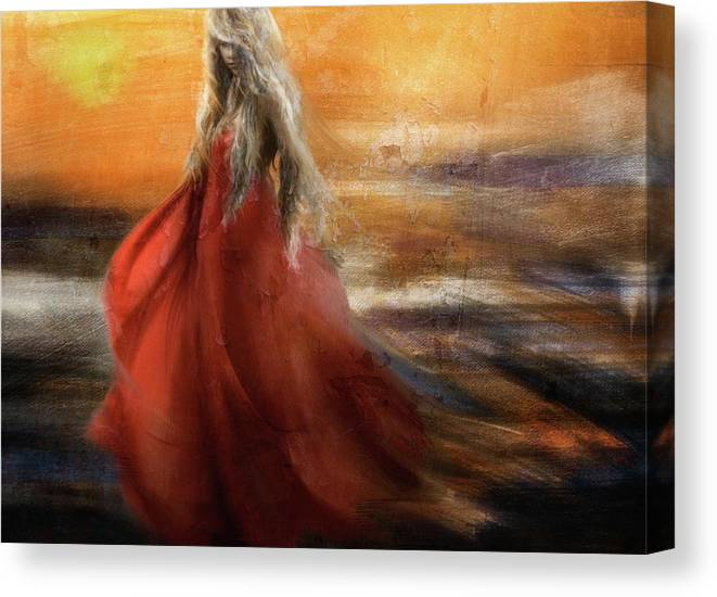 Painterly Canvas Print featuring the photograph If You Were The Sun, I Would Just Fade Into You... by Charlaine Gerber