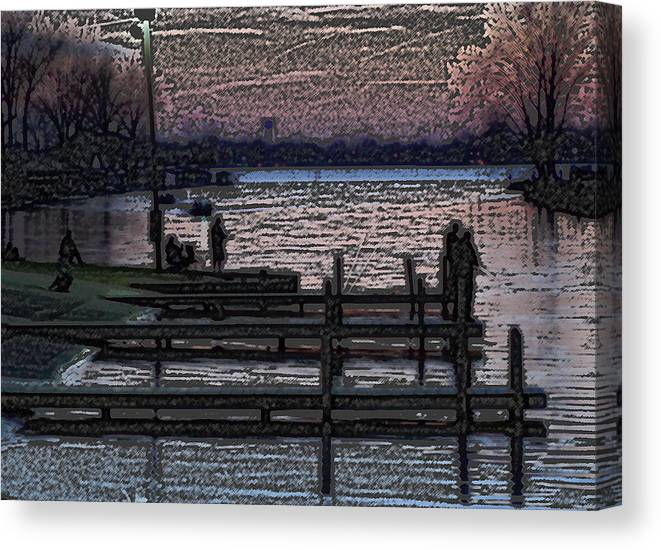 Fishing Canvas Print featuring the photograph Indian Lake Evening by Doug Hubbard