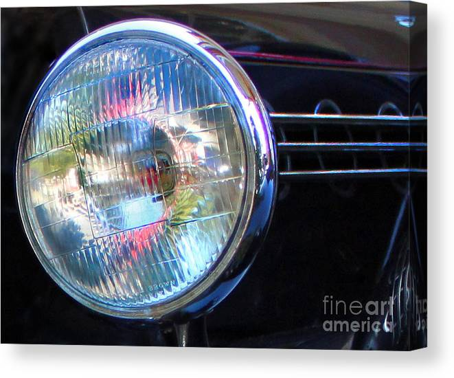 Headlight Canvas Print featuring the photograph Lighting The Way by Gee Lyon