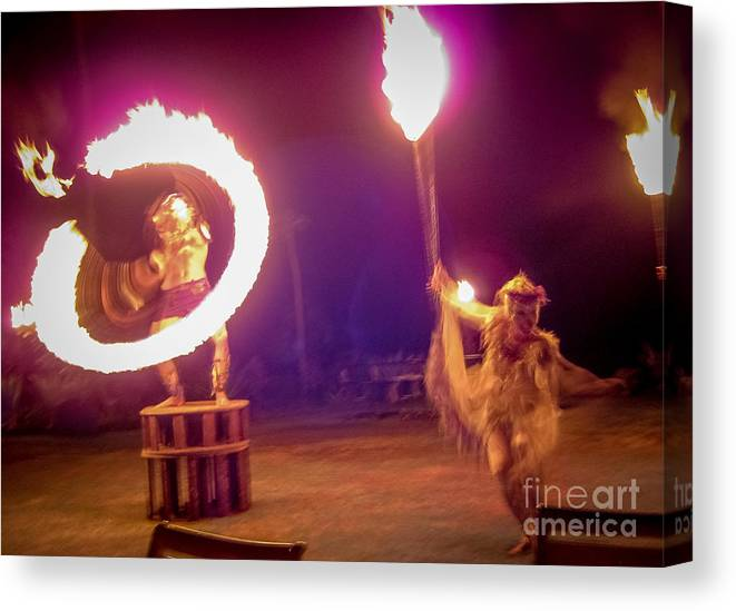 Dance Canvas Print featuring the photograph Ring Of Fire by Chuck Spang