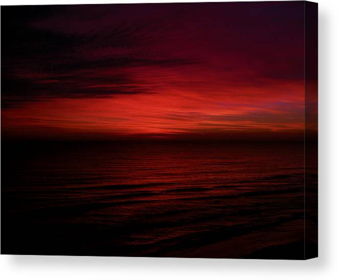 Landscape Canvas Print featuring the photograph Sailors Take Warning by William Underwood