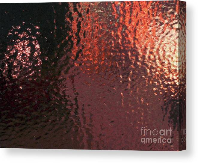 Ice Canvas Print featuring the photograph Sheet Of Solid Ice Looking Out by Tahlula Arts