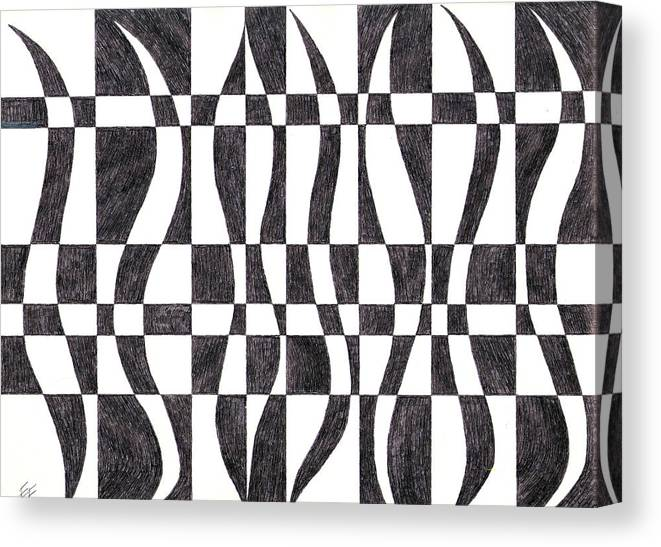 Stripe Canvas Print featuring the drawing Striped by Eric Forster