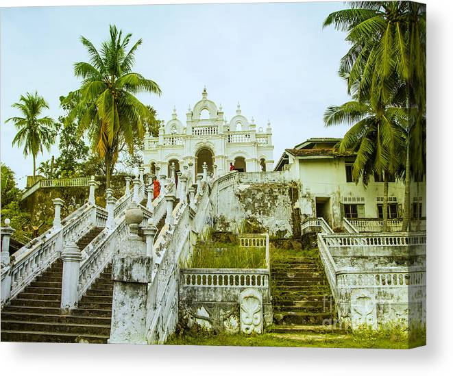 Temple Canvas Print featuring the photograph view to the Dodanduwa Temple by Gina Koch