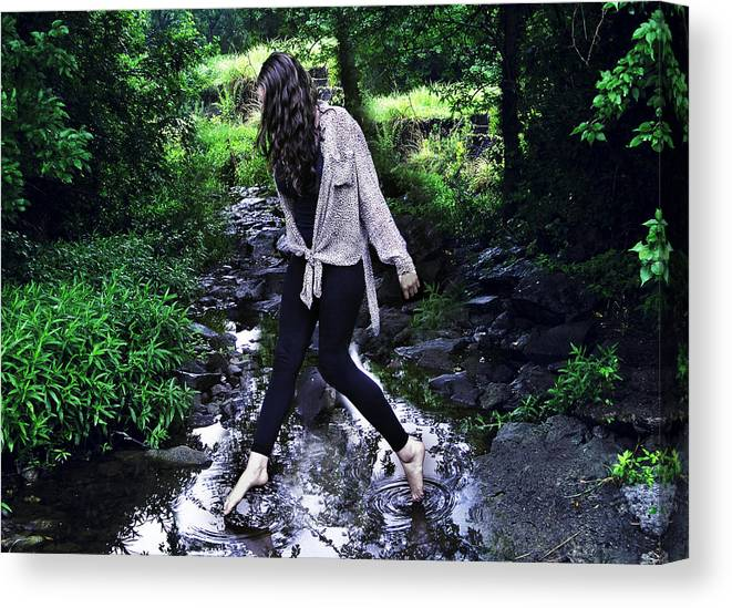 Country Canvas Print featuring the photograph Walking On Water by Jordy Goff