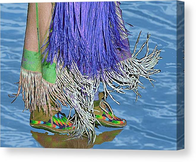 Pow Wow Canvas Print featuring the digital art Water Dancing by Kae Cheatham