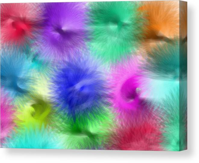 Colorful Canvas Print featuring the digital art Whip It by Debra Congi