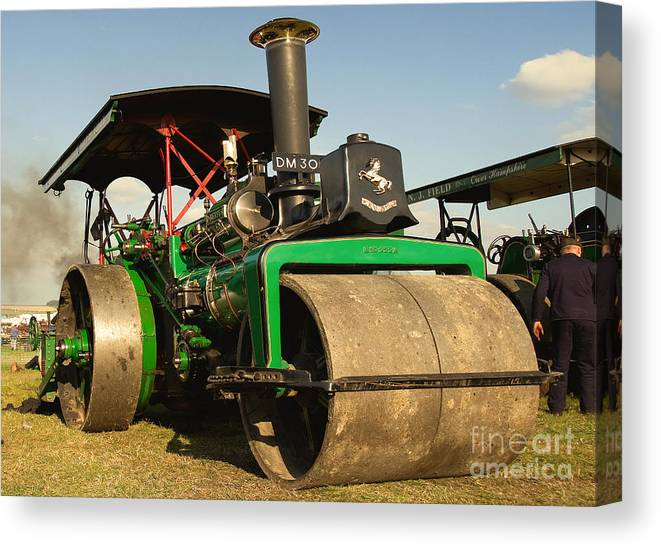Fred Dibnah Canvas Print featuring the photograph Fred's Betsy by Rob Hawkins