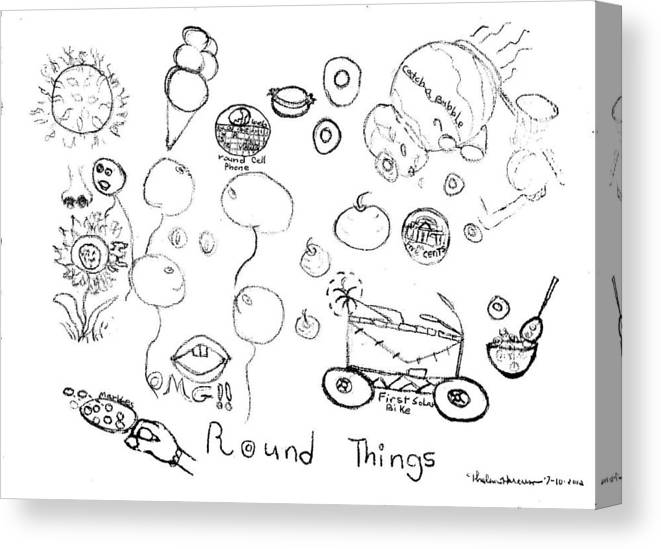 Round Things Abstracts And Symbols Drawing Canvas Print Canvas Art