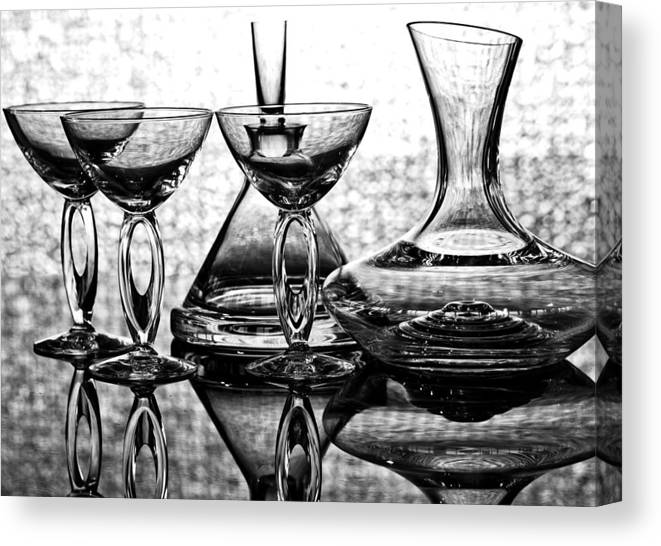 Alcohol Canvas Print featuring the photograph Shadow Of Luxury Glass No.1 by Chavalit Kamolthamanon