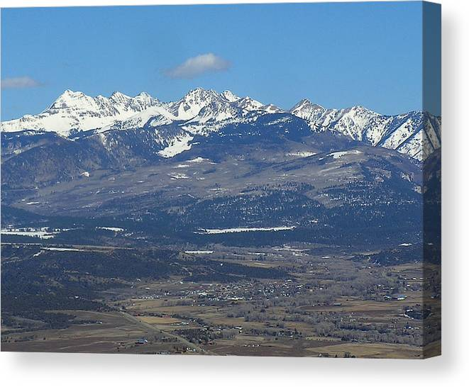 Mancos Valley Canvas Print featuring the photograph The Mancos Valley by FeVa Fotos