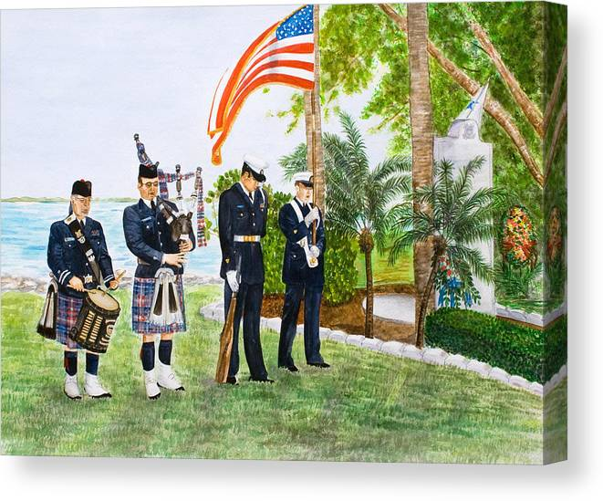 Coast Guard Canvas Print featuring the painting Blackthorn Memorial by Dorothy Riley