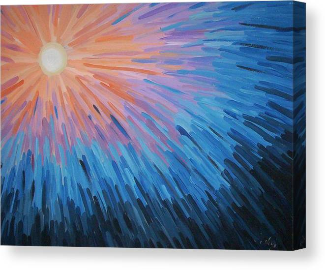 Angela Mustin Canvas Print featuring the painting Burst by Angela Mustin