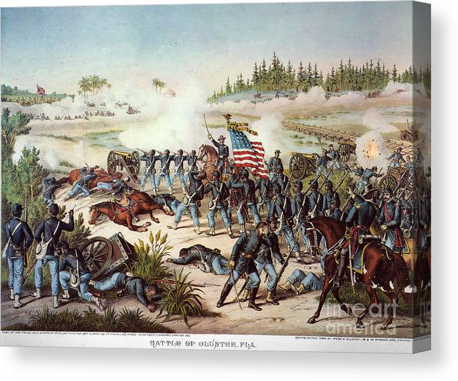 1864 Canvas Print featuring the photograph Battle Of Olustee, 1864 by Granger