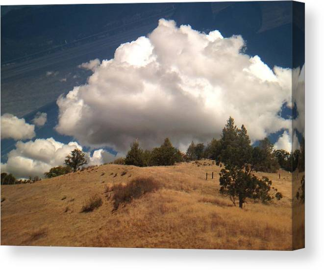 Clouds Canvas Print featuring the photograph Big Cloud by Carol Sheli Cantrell