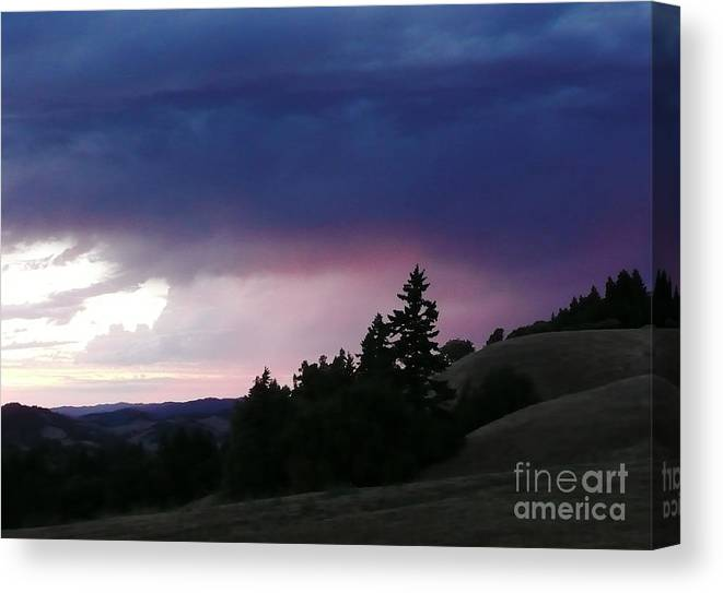 Nature Canvas Print featuring the photograph Calm Before The Really Big Storm by JoAnn SkyWatcher