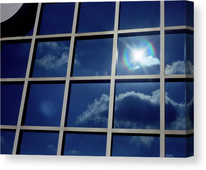 Clouds Canvas Print featuring the photograph Cloud Reflection by Ken Norcross