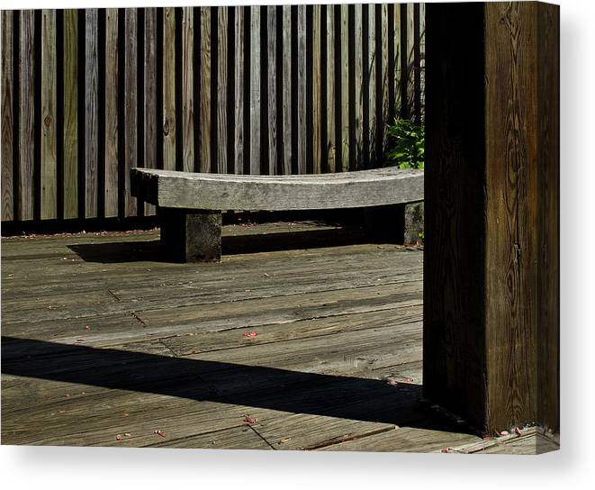 Bench Canvas Print featuring the photograph Curved Bench by Murray Bloom