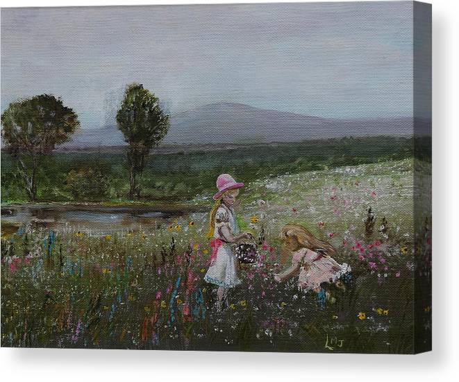 Impressionist Canvas Print featuring the painting Delights Of Spring - Lmj by Ruth Kamenev