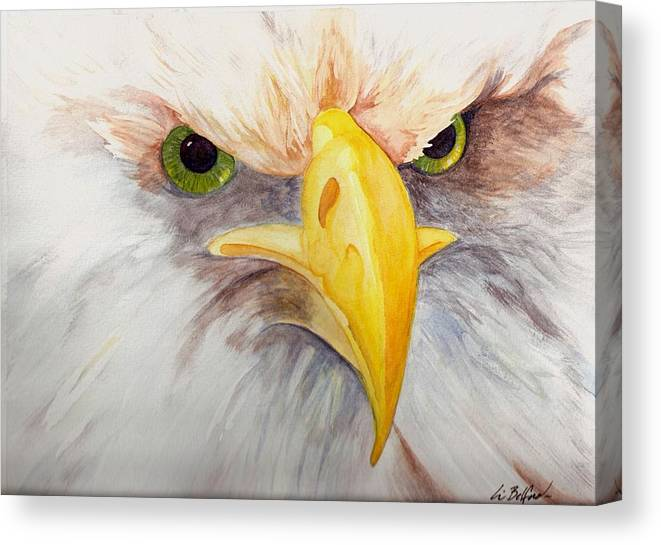 Eagle Canvas Print featuring the painting Eagle Stare by Eric Belford