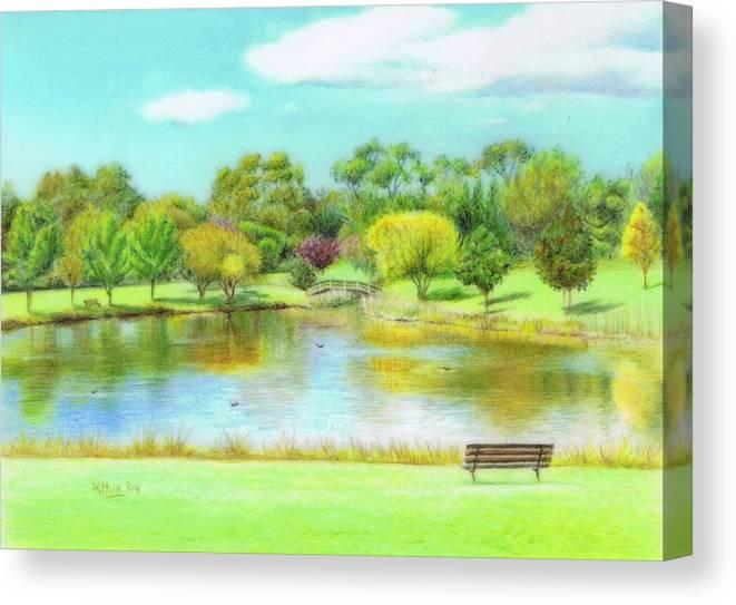 Karen Hull Canvas Print featuring the drawing Fagan Park by Karen Hull