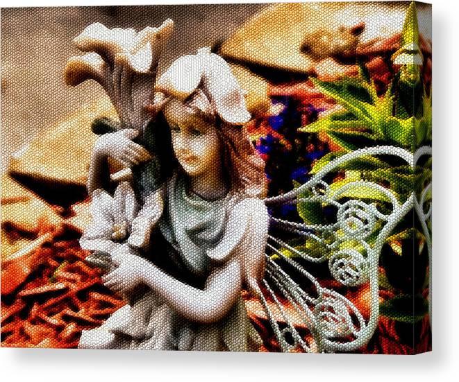 Garden Canvas Print featuring the photograph Garden Girl by Karen Scovill