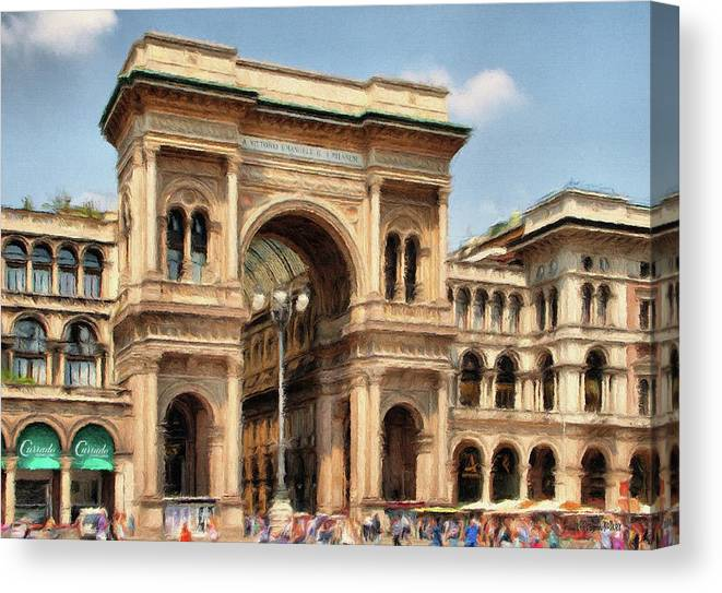Mall Canvas Print featuring the painting Grande Ingresso by Jeffrey Kolker