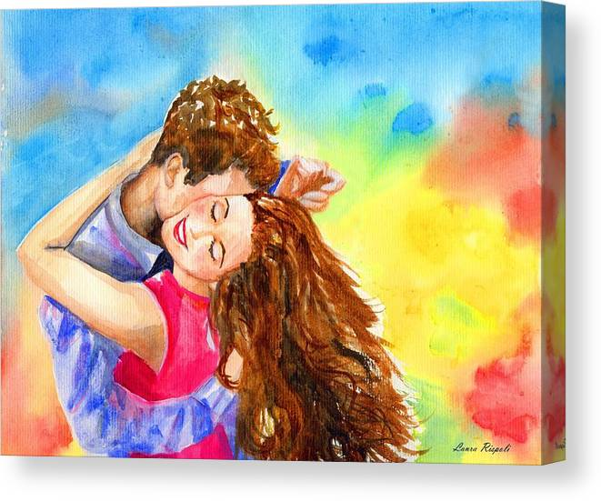 Cheerful Canvas Print featuring the painting Happy Dance by Laura Rispoli