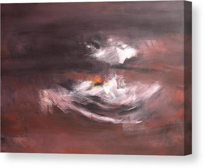Abstract Canvas Print featuring the painting In Grey 2 by DEVARAJ DanielFranco