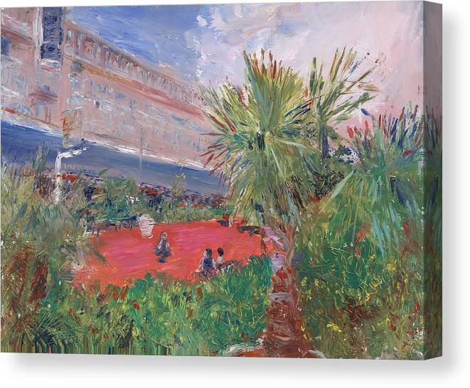 Oil Canvas Print featuring the painting Miami International by Horacio Prada