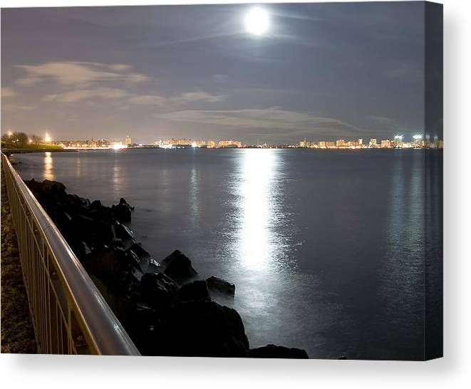 America Canvas Print featuring the photograph Moon Light by Svetlana Sewell