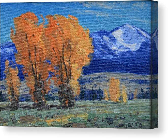 Landscape Canvas Print featuring the painting Near Kelly by Lanny Grant