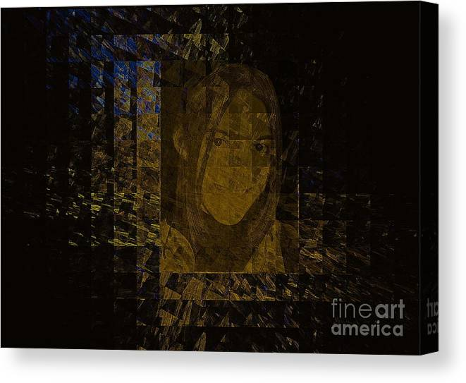 Portrait Canvas Print featuring the mixed media Portrait Reflection From Fresnel Prisms by Viktor Savchenko