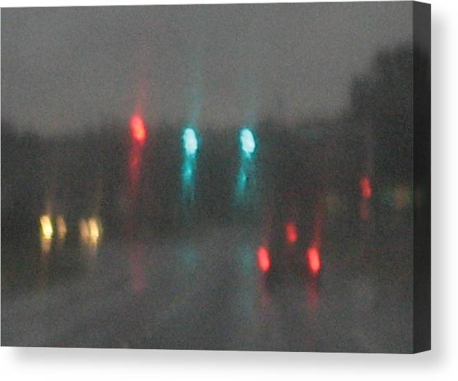 Lights Canvas Print featuring the photograph Rain 6 by Stephen Hawks