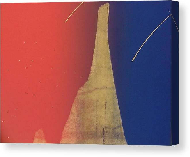 Shooting Stars Canvas Print featuring the painting Shooting Star by Gary Kaemmer