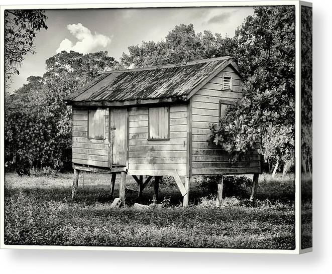 Raised House Canvas Print featuring the photograph Small House by Jessica Levant