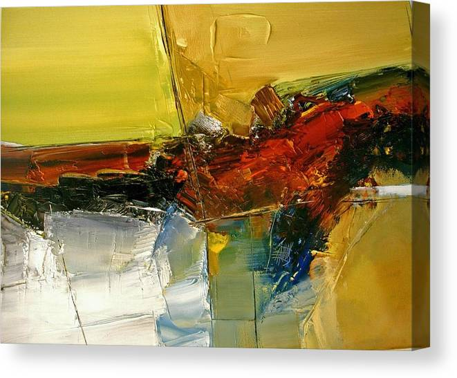Abstract Canvas Print featuring the painting Something Always Lies Beneath Or Above by Stefan Fiedorowicz
