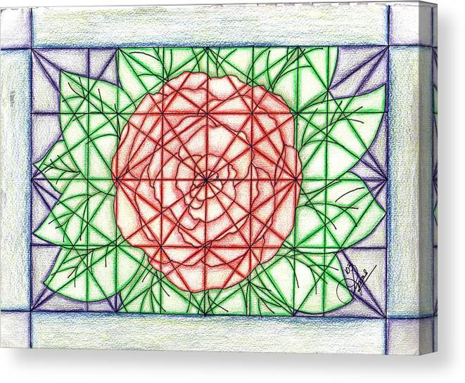 Canvas Print featuring the drawing Stained Glass by Lynnette Jones