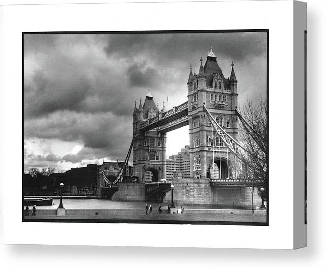 Tower Bridge Canvas Print featuring the photograph Storm Over Tower Bridge by Michael Fiorella