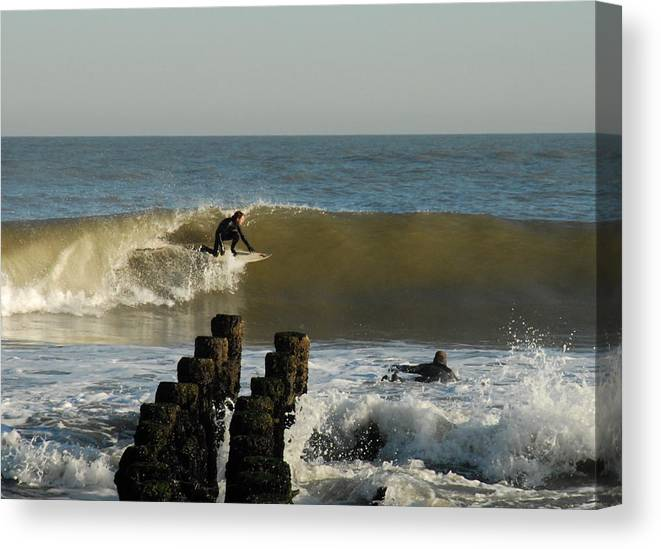 Surfer Art Canvas Print featuring the photograph Surfing 81 by Joyce StJames