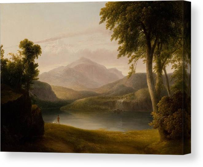 In The Catskills Canvas Print featuring the painting the Catskills by MotThomas Doughty