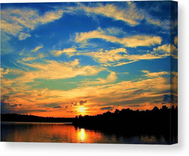 Sunset Canvas Print featuring the photograph Touch The Wind by Mitch Cat