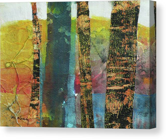 Trees Canvas Print featuring the painting Trees by Melody Cleary