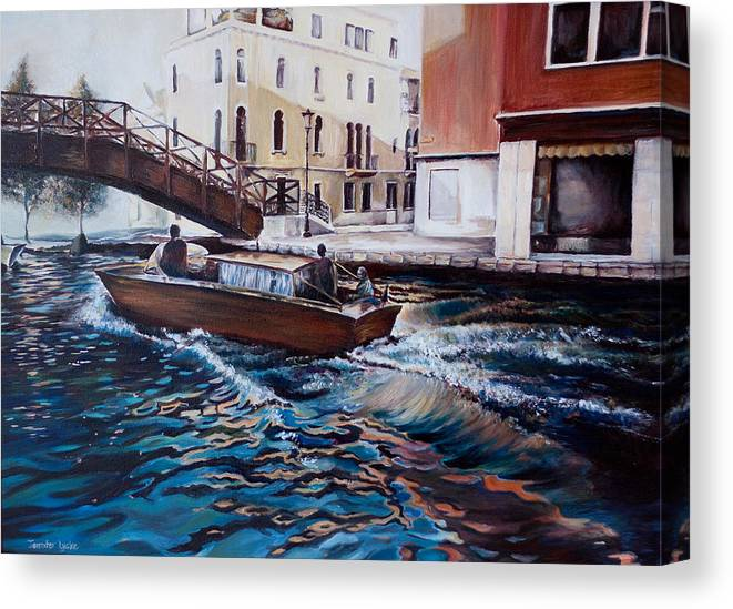 Venice Canvas Print featuring the painting Venice by Jennifer Lycke