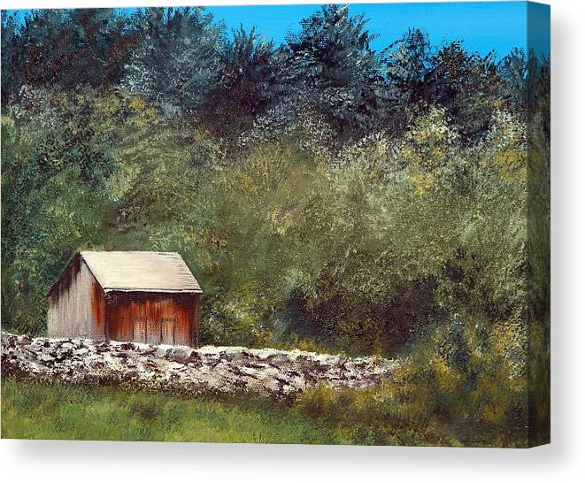 Vermont Canvas Print featuring the painting Vermont Farm by Mimi Schlichter