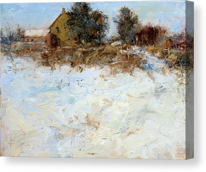 Farm Canvas Print featuring the painting Waltham Farm by James Swanson