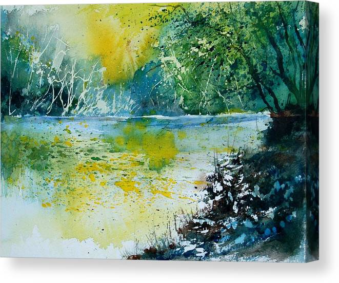 Pond Canvas Print featuring the painting Watercolor 051108 by Pol Ledent