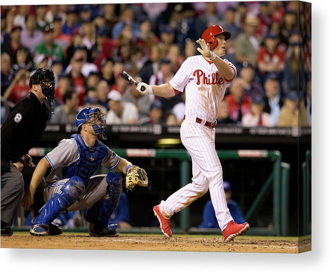 Majestic Canvas Print featuring the photograph Cody Asche by Mitchell Leff